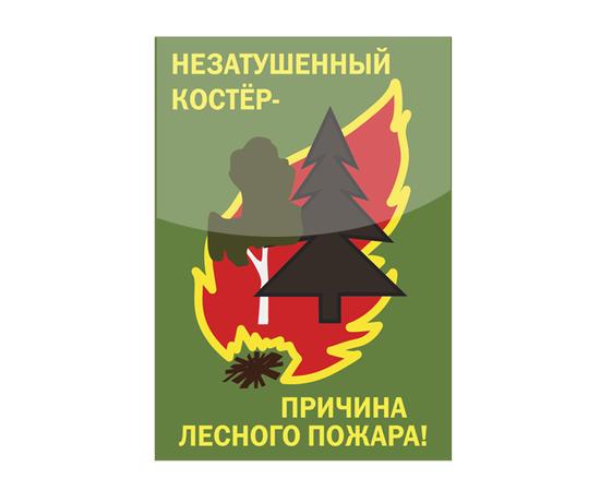 """Аншлаг противопожарный """"Незатушенный костер причина пожара!"""" тип 9, фото 1"""