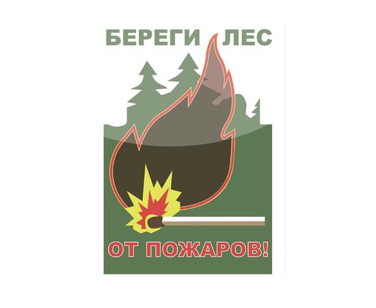 """Аншлаг противопожарный """"Береги лес от пожаров"""" тип 1, фото 1"""