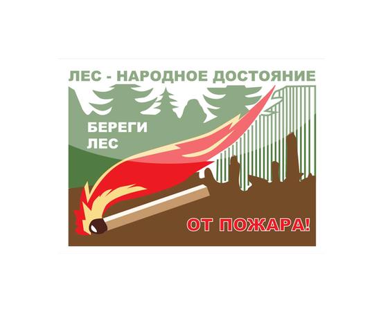 """Аншлаг противопожарный """"Лес народное достояние!"""" тип 8, фото 1"""