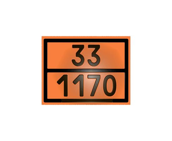 Табличка оранжевая 33/1170 спирт этиловый, фото 1