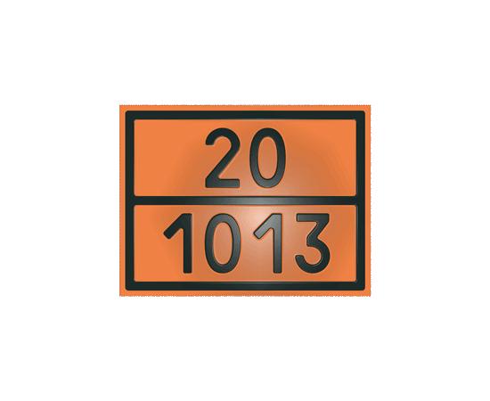 Табличка оранжевая 20/1013 углекислый газ, фото 1