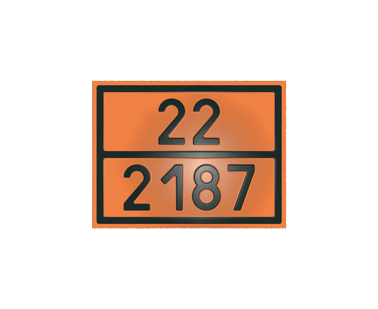 Табличка оранжевая 22/2187 диоксид углерода, фото 1