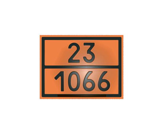 Табличка оранжевая 23/1066 азот сжатый, фото 1