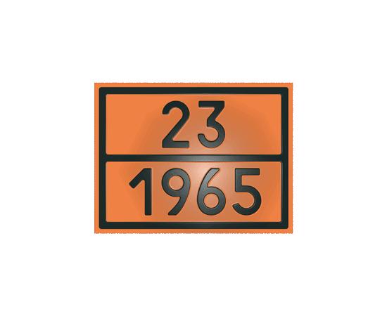 Табличка оранжевая 23/1965 газ углеводород, фото 1