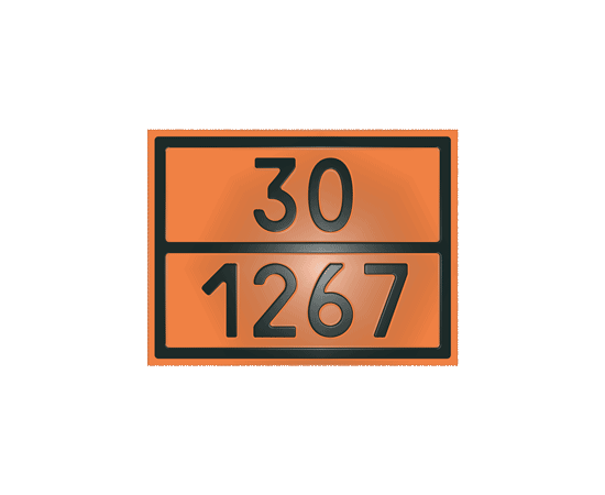 Табличка оранжевая 30/1267 нефть, фото 1