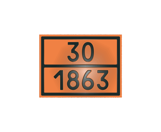 Табличка оранжевая 30/1863 топливо авиационное, фото 1