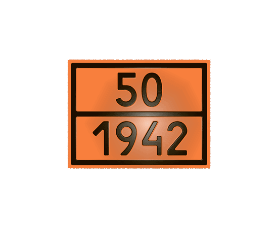 Табличка оранжевая 50/1942 нитрат аммония, фото 1