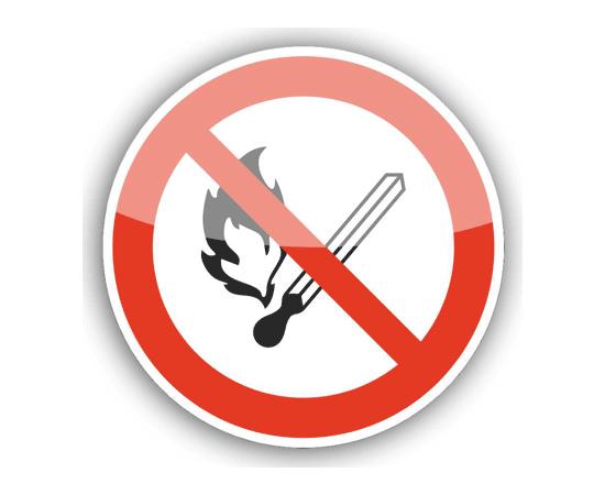 Знак  Запрещается пользоваться открытым огнем!, фото 1