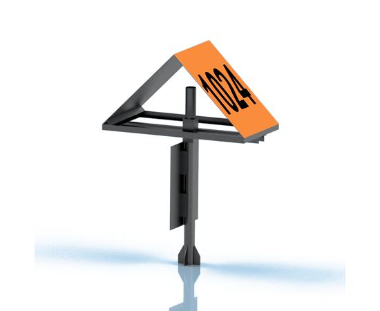 Знак линейный опознавательный Закрепления трасс нефтегазопровода, фото 2