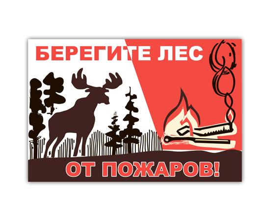 Аншлаг противопожарный Берегите лес от пожаров! тип 14, фото 1