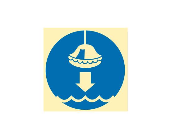 Знак ИМО Спустите спасательный плот, фото 1