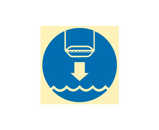 Знак ИМО Спустите спасательную шлюпку, фото 1