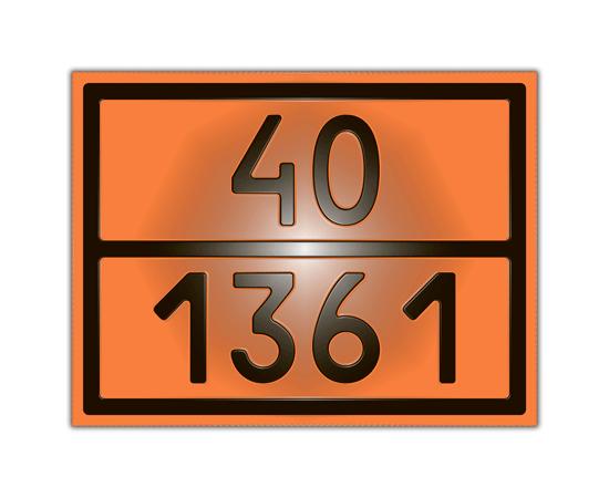 Знак опасности 40/1361 уголь, фото 1