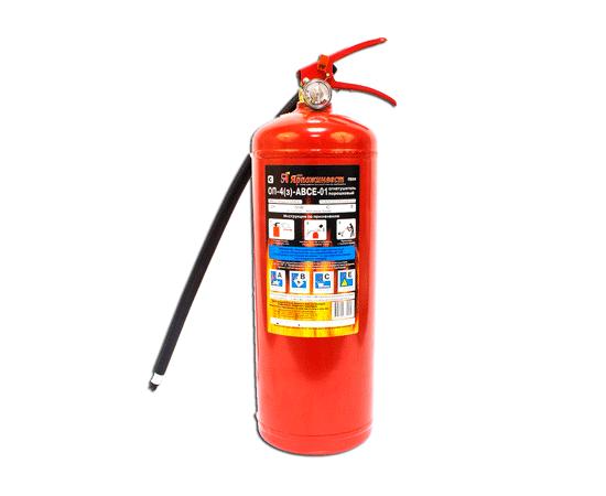 Огнетушитель порошковый ОП-4 (з) ABCE, фото 1