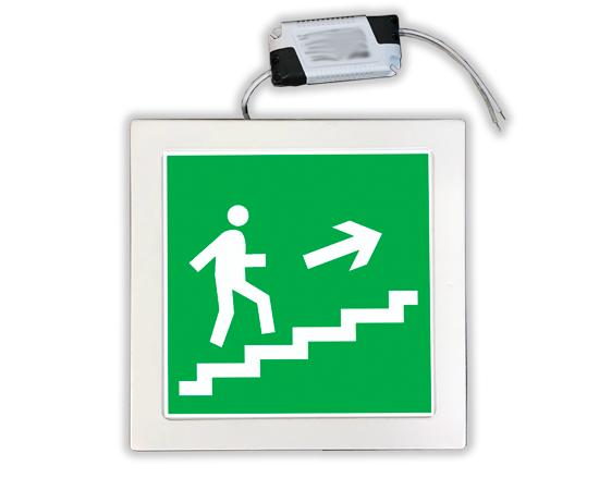 Указатель аварийный Е15 Направление к эвакуационному выходу по лестнице вверх, фото 1