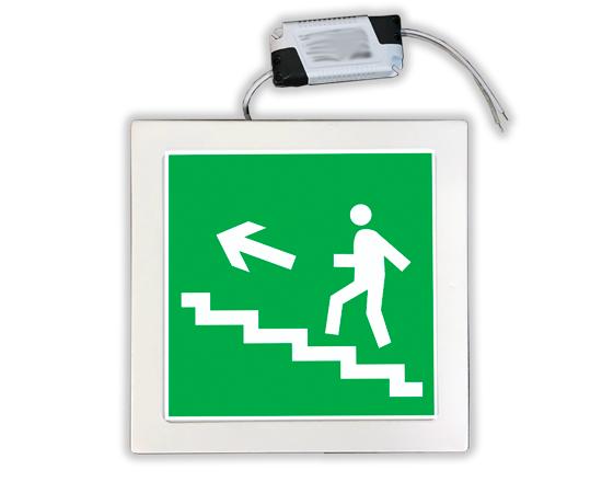 Указатель аварийный Направление к эвакуационному выходу по лестнице вверх, фото 1