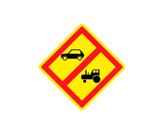Знак Запрещено движение автомобилей и тракторов, кроме автомобилей специального назначения, фото 1