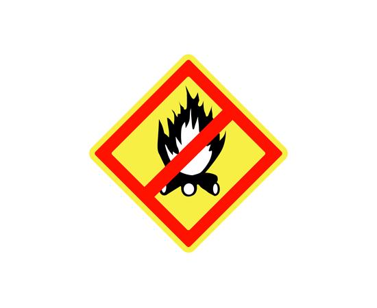 Знак Запрещено разведение костров, фото 1