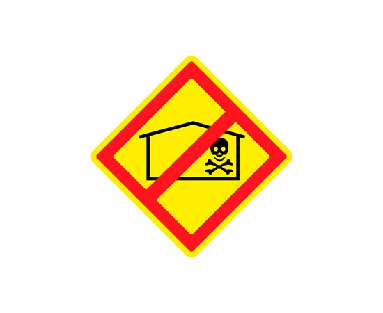Знак Запрещено размещение складов ядохимикатов, фото 1