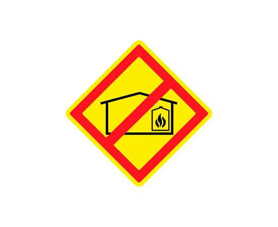 Знак Запрещено размещение складов горюче-смазочных материалов, фото 1