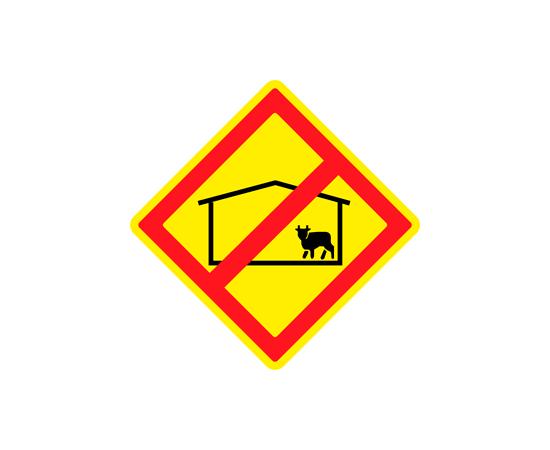 Знак Запрещено размещение животноводческих комплексов и ферм, фото 1