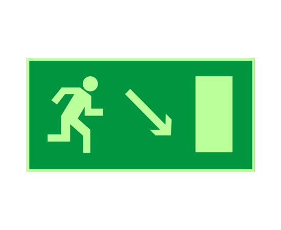 знак Е 07 Направление к эвакуационному выходу направо вниз, фото 1
