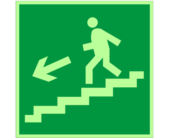 знак Е 14 Направление к эвакуационному выходу по лестнице вниз, фото 1