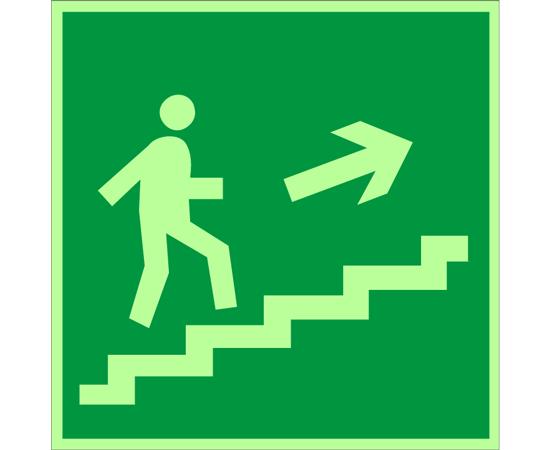 знак Е 15 Направление к эвакуационному выходу по лестнице вверх, фото 1