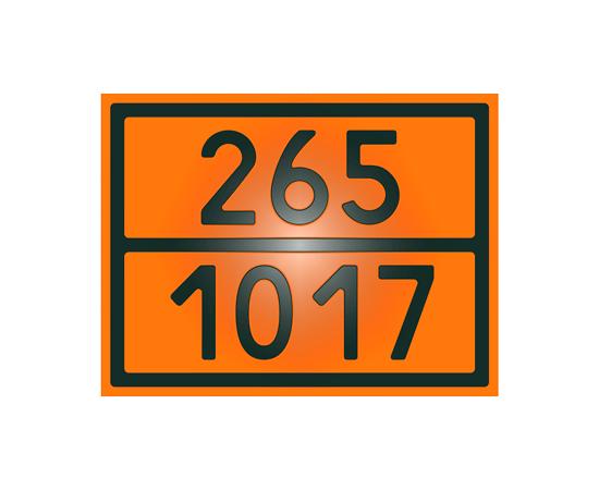 Знак опасности 265-1017 хлор, фото 1