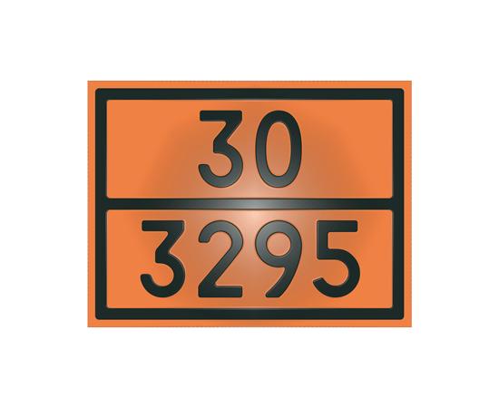 Табличка оранжевая 30/3295 углеводороды жидкие, фото 1