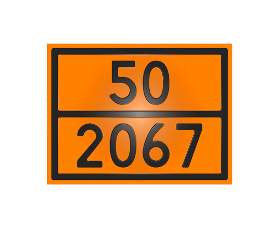 Знак опасности 50-2067 нитрат аммония, фото 1