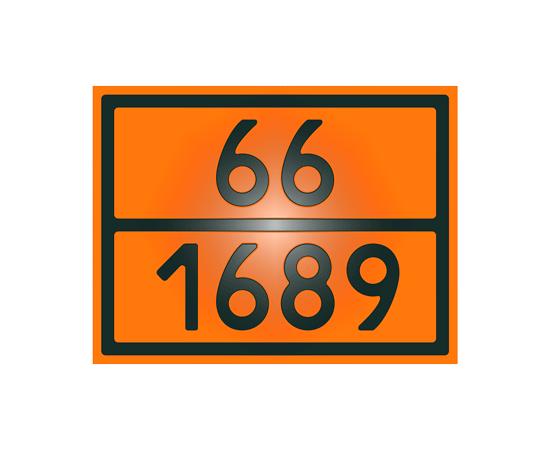 Знак опасности 66-1689 натрия цианид, фото 1