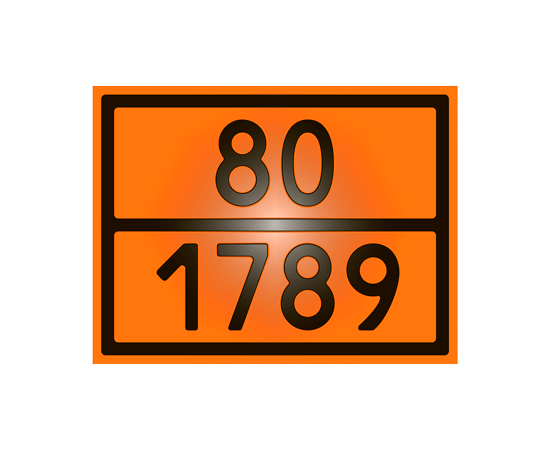 Знак опасности 80-1789 кислота хлористоводородная, фото 1