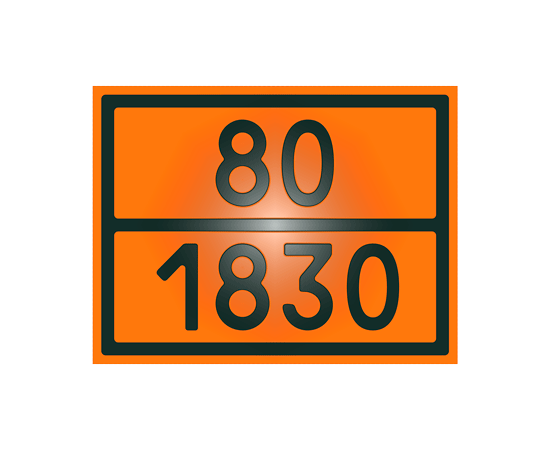 Знак опасности 80-1830 кислота серная, фото 1