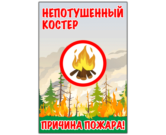 Непотушенный костер, причина пожара! тип 19, фото 1