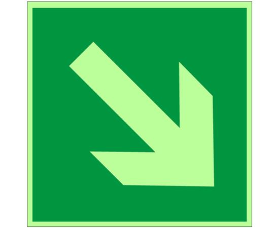 знак Е 02-02 Направляющая стрелка под углом 45°, фото 1
