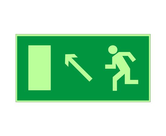 знак Е 06 Направление к эвакуационному выходу налево вверх, фото 1